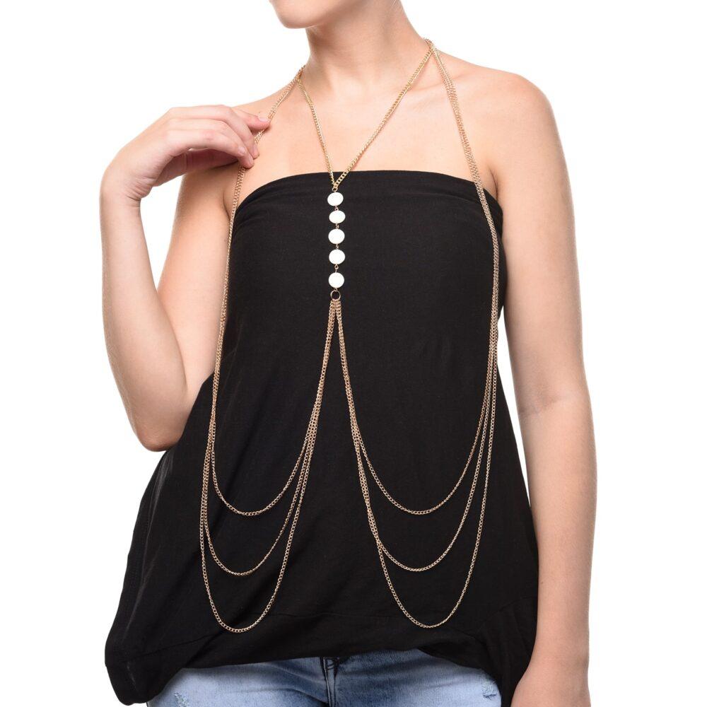 Multi Chain Designer Body Chain for Girls