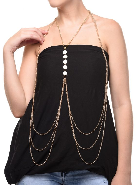 Multi Chain Designer Body Chain for Girls