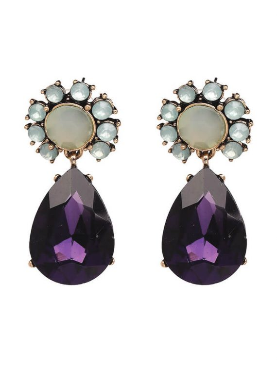 Zircon Statement Earrings By Femnmas