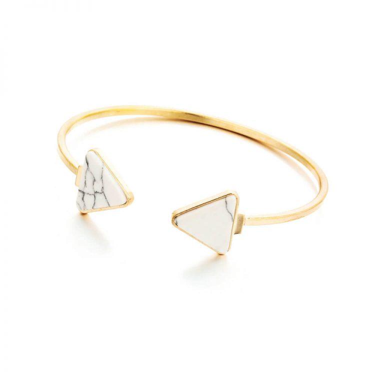 White Stone Studded Marble Bracelet ByFemnmas