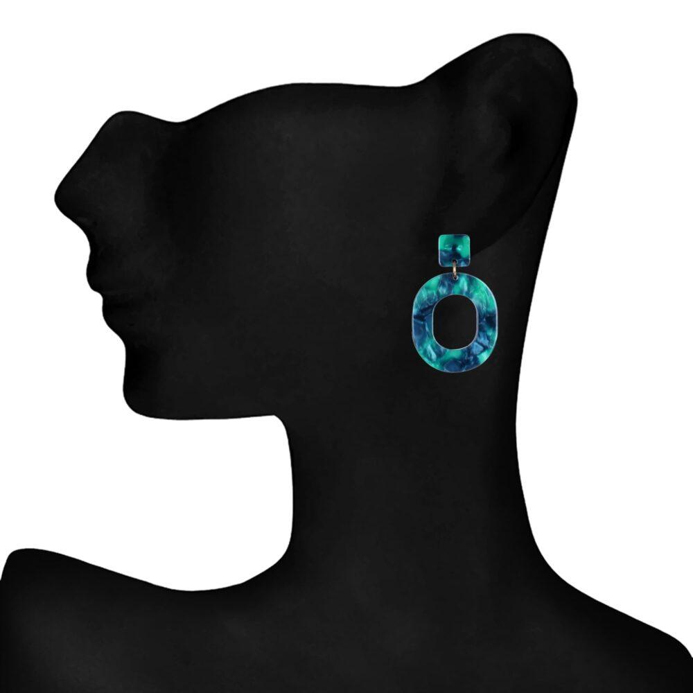 Green Celebrity Earrings By Femnmas