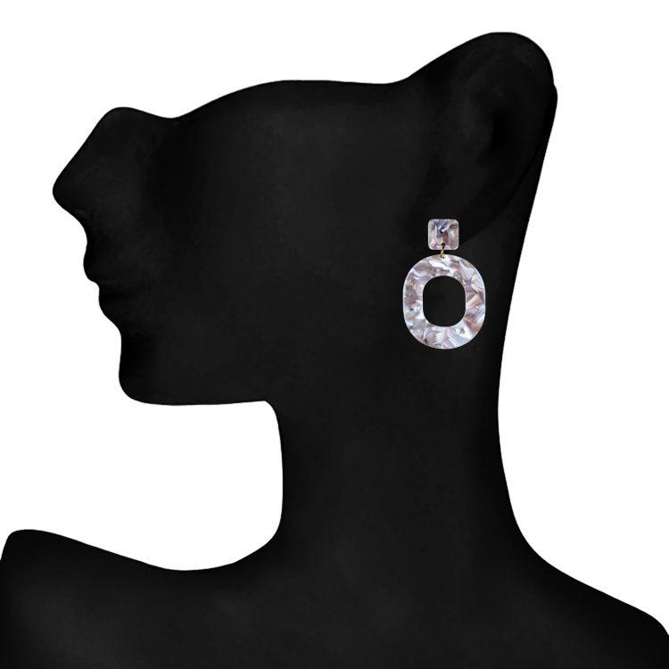 Marble Statement Earrings From Femnmas