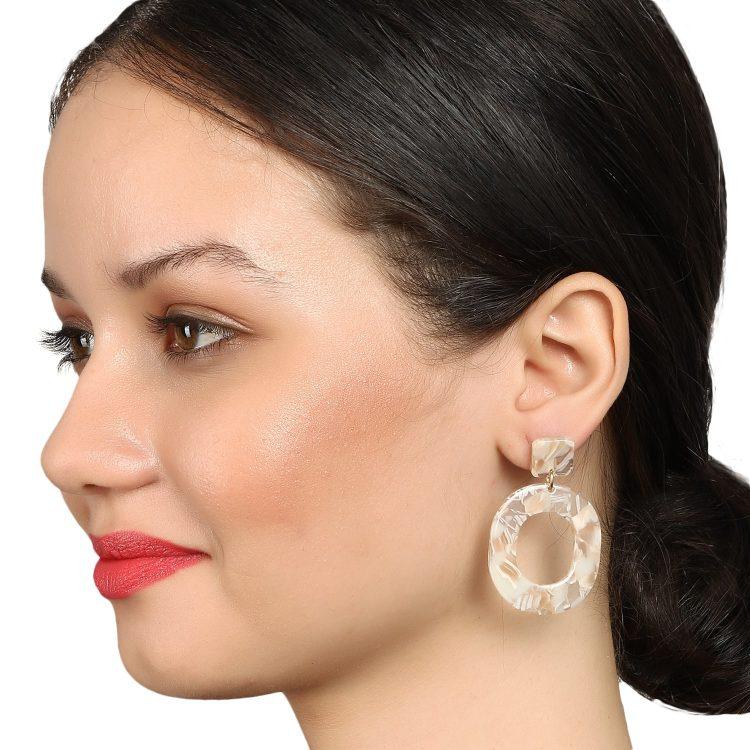 White Drop Party Earrings By Femnmas