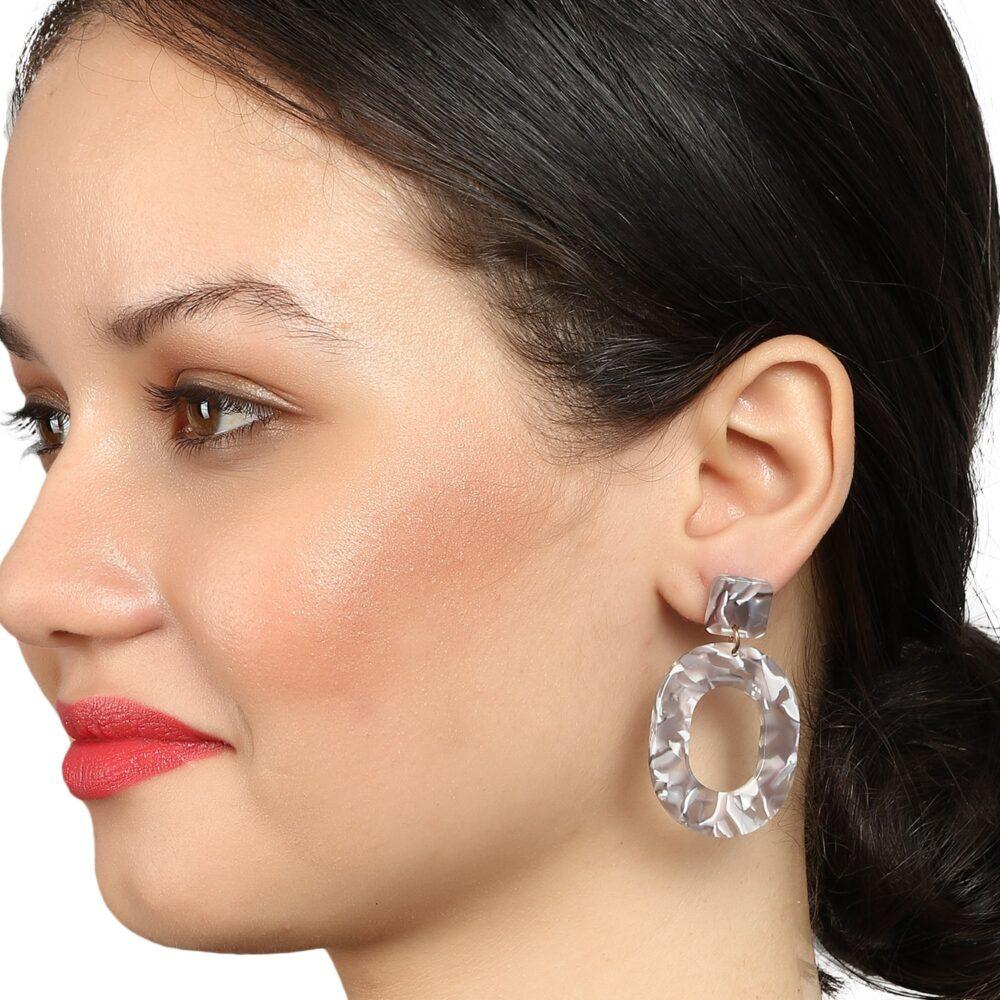 Marble Earrings By Femnmas