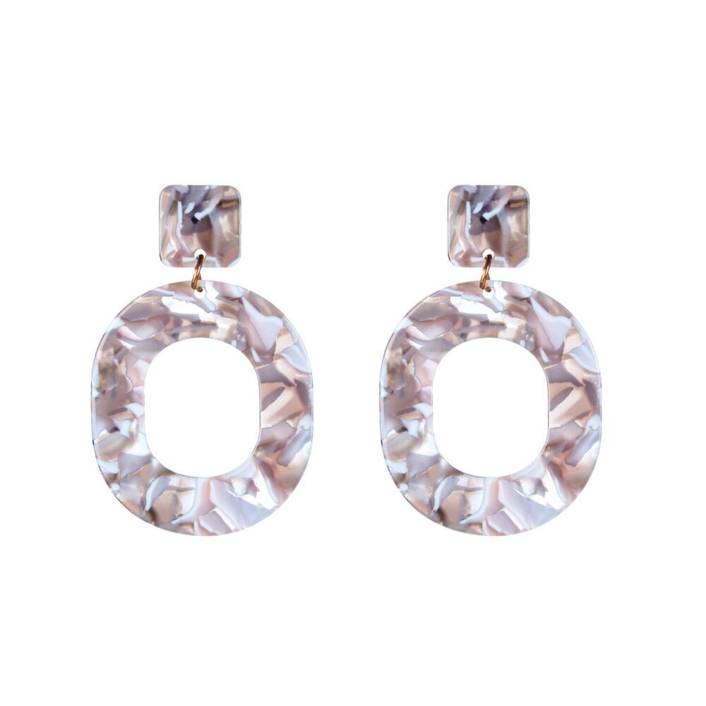 Marble Look Designer Earrings For Girls