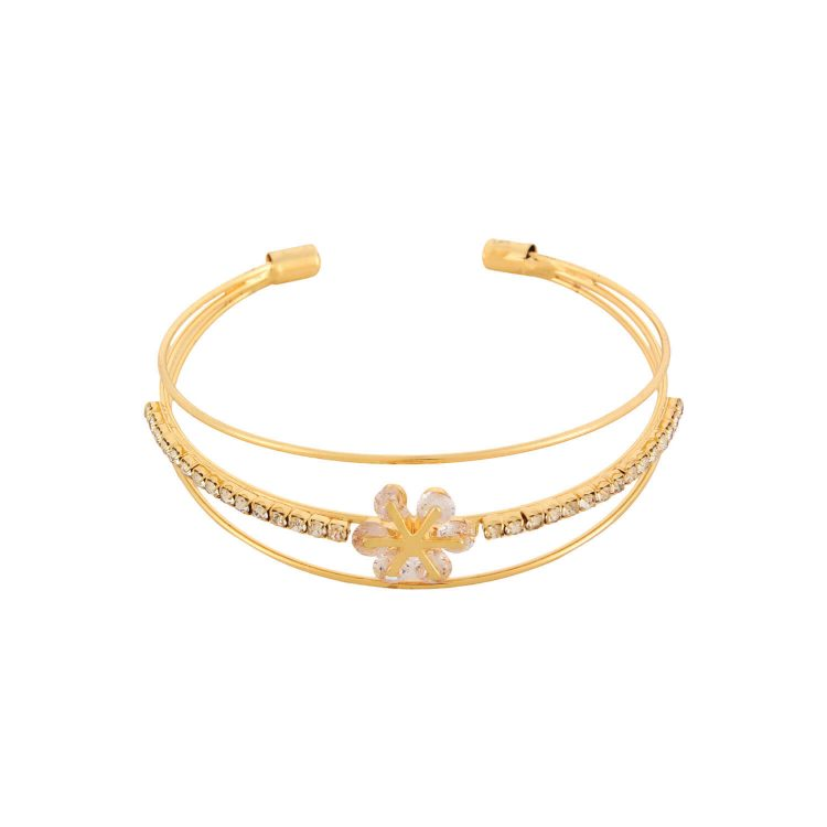 Golden Flower Bracelet From Femnmas