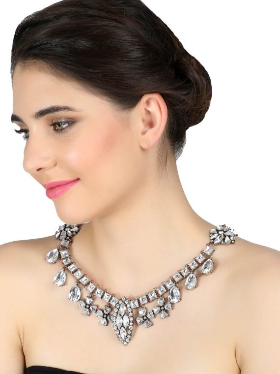 Zircon Heavy Statement Necklace