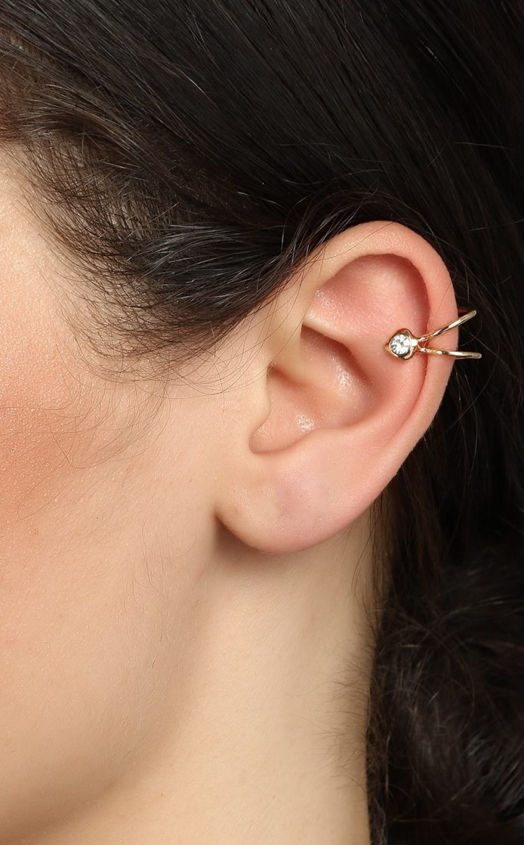 Golden Non Pierced Earring By Femnmas
