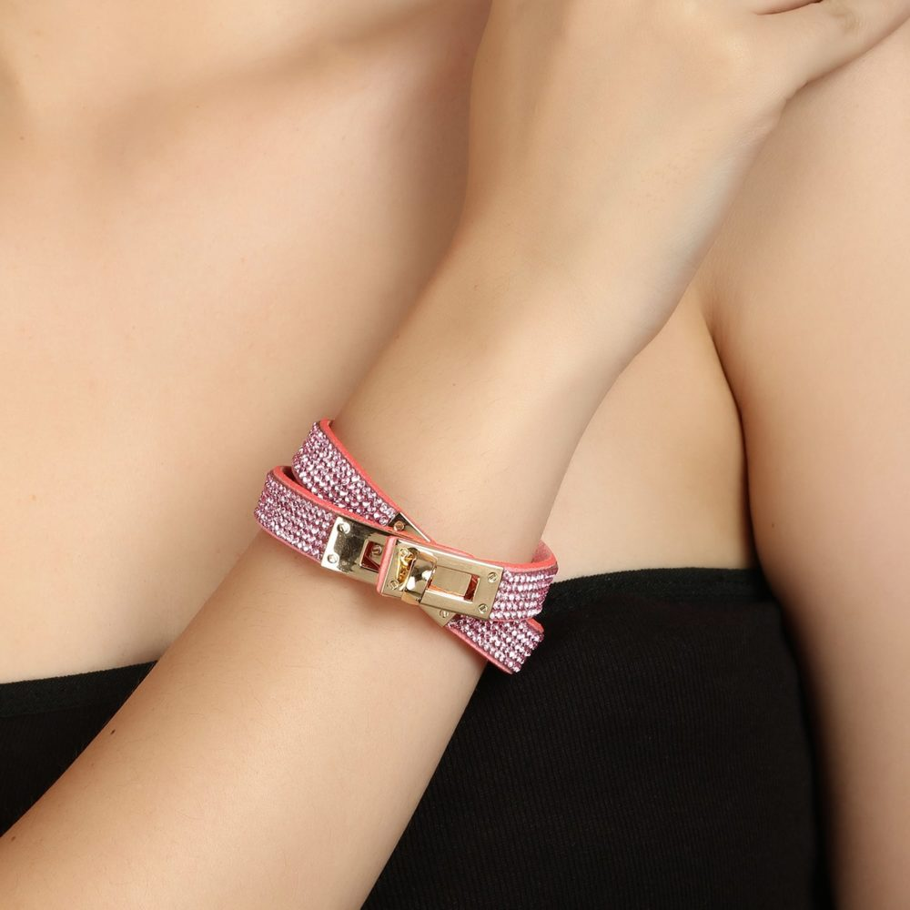 Pink Simple Daily Use Bracelet For Girls By Femnmas