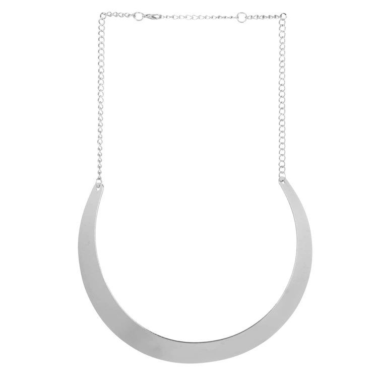 silver Plate Party Choker Necklace