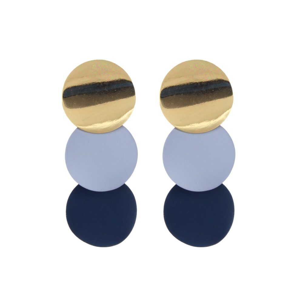 Golden Statement Fashion Earrings From Femnmas