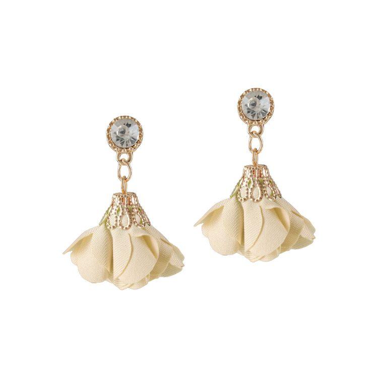 White drop petals earrings by femnmas