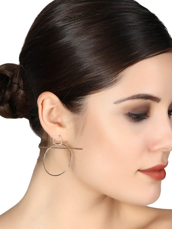Silver Cross Designer Earrings For women