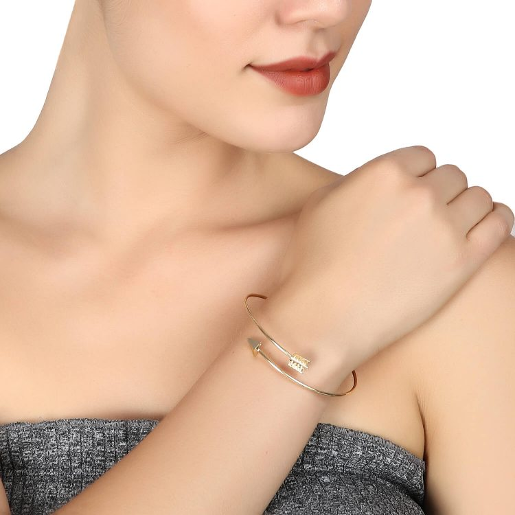 Golden Arrow Cuff Bracelet