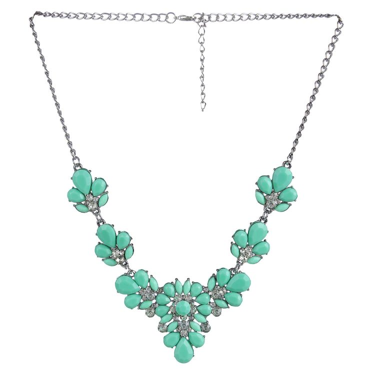 Stone Studded Statement Necklace By Femnmas