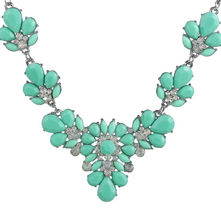 Green stone studded Necklace