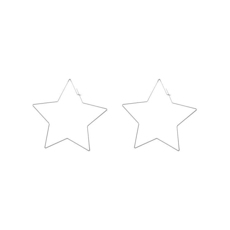 Big Star Silver Earrings By Femnmas
