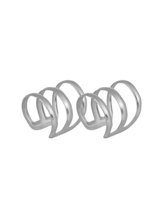 Silver Designer Non-Pierced Earrings