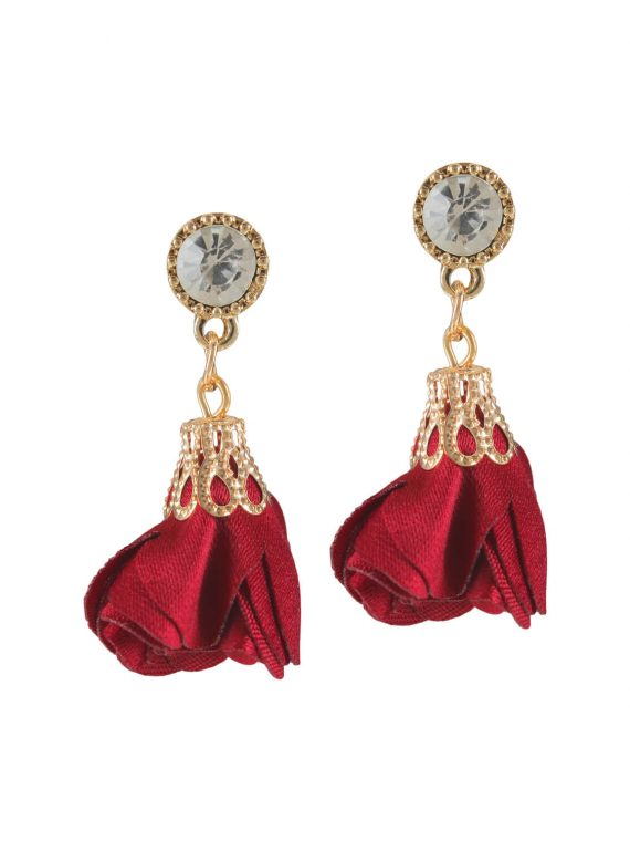 Red Petals designer earrings by femnmas