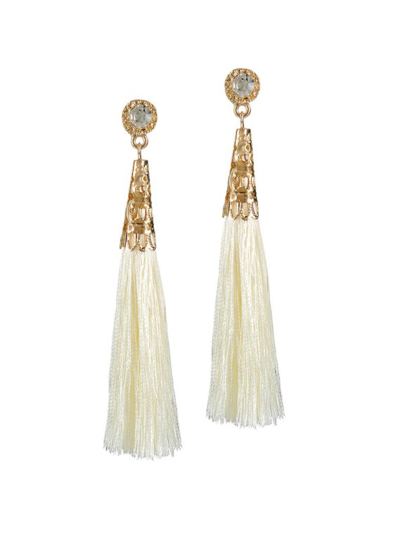 White drop and dangler earrings