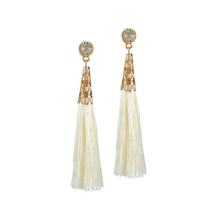 White drop and dangler earrings