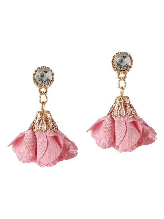 Pink Leaf Petals drop earrings