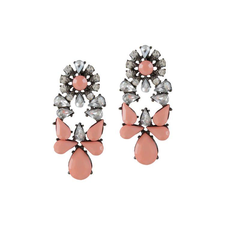 Peach stone studded earrings by femnmas