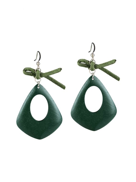 Green simple earrings by femnmas