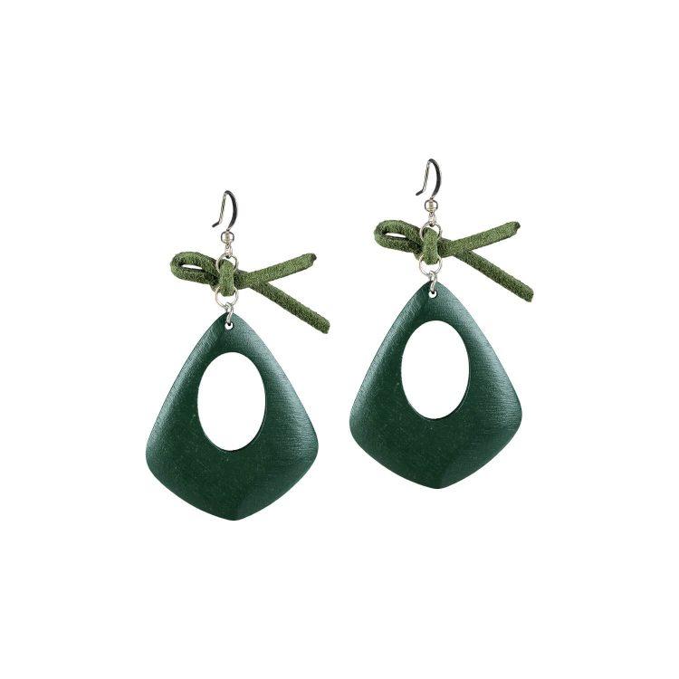 Green simple earrings by femnmas