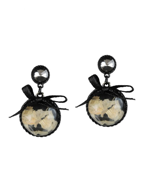 Black Bow Designer Earrings by femnmas