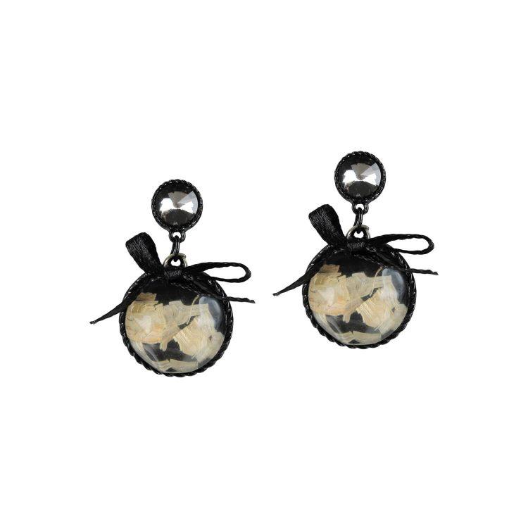 Black Bow Designer Earrings by femnmas
