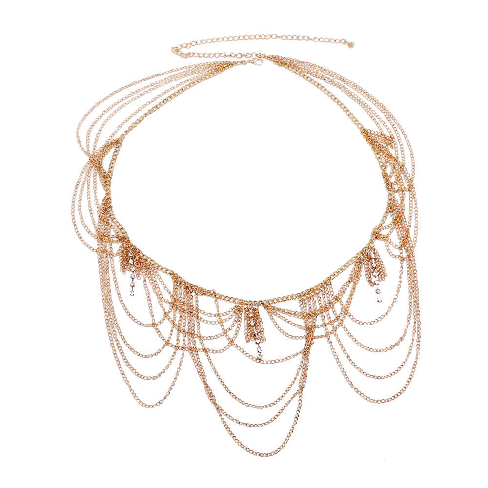 Multi Tassel Designer Belly Chain