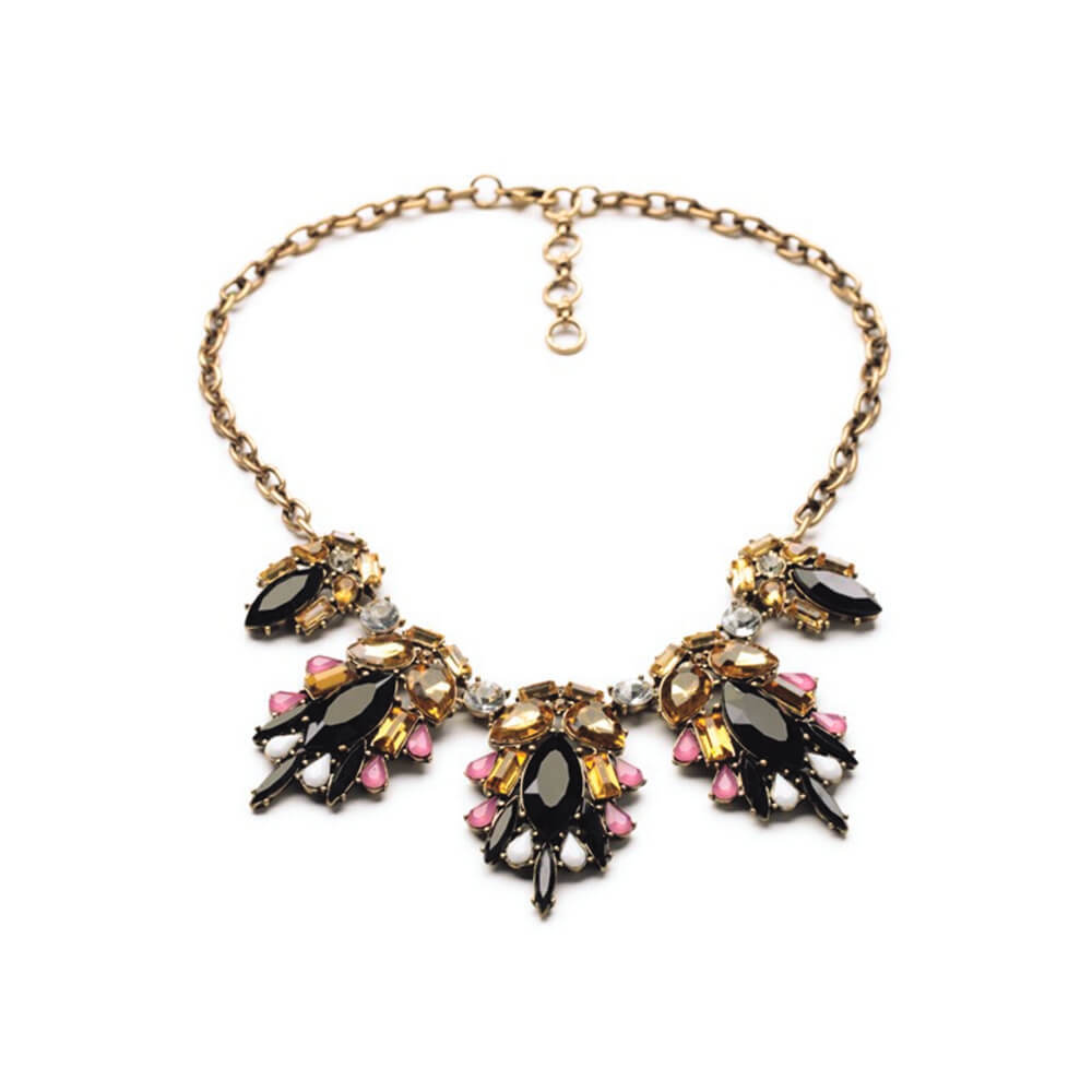 Black Statement Necklace By Femnmas