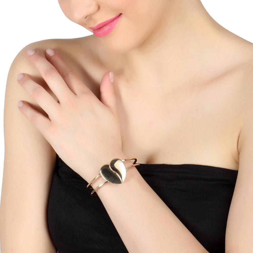 Golden Heart Shape Bracelet
