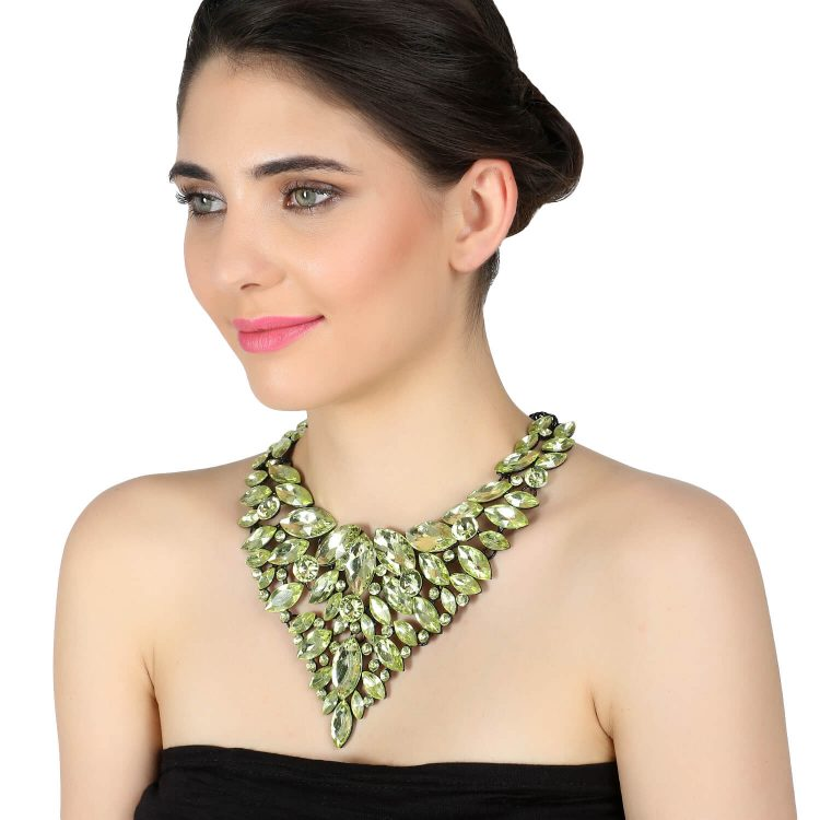 Lime Green Heavy Party Victoria Necklace