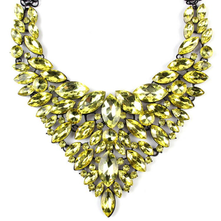 Lime Green Victoria Necklace By Femnmas