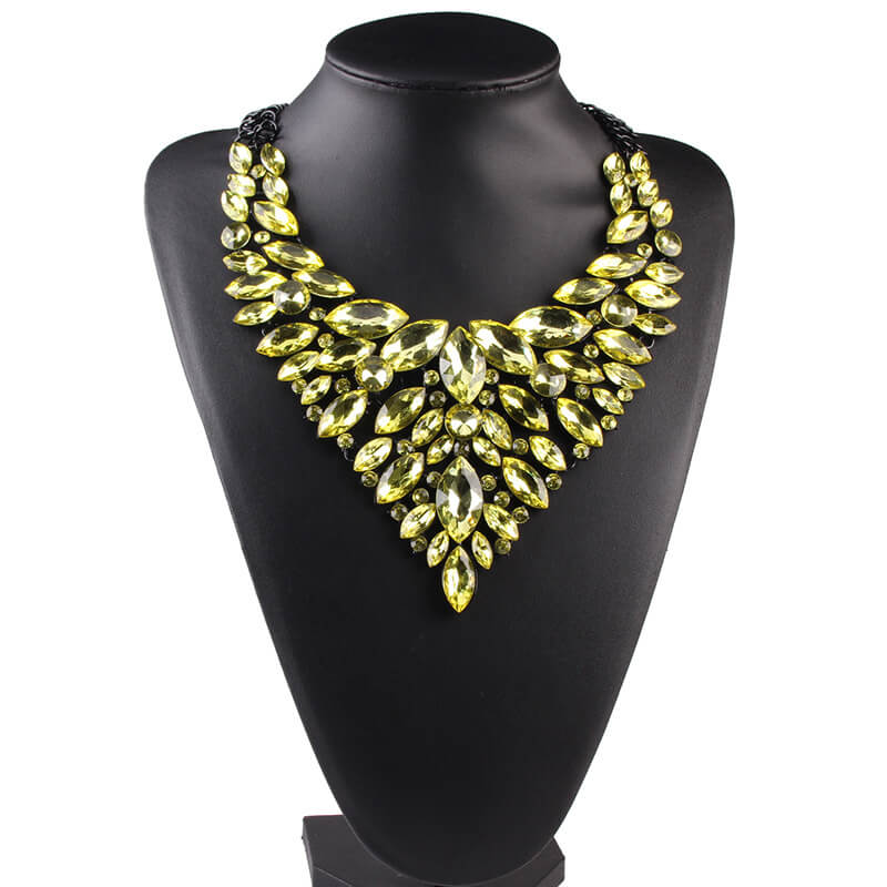 Lime Green party necklace By Femnmas