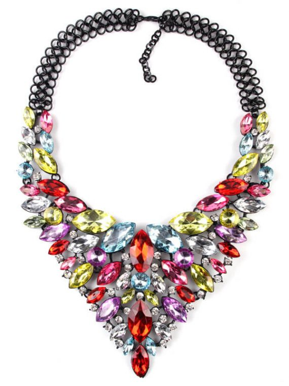 Multi Color Statement Necklace For women