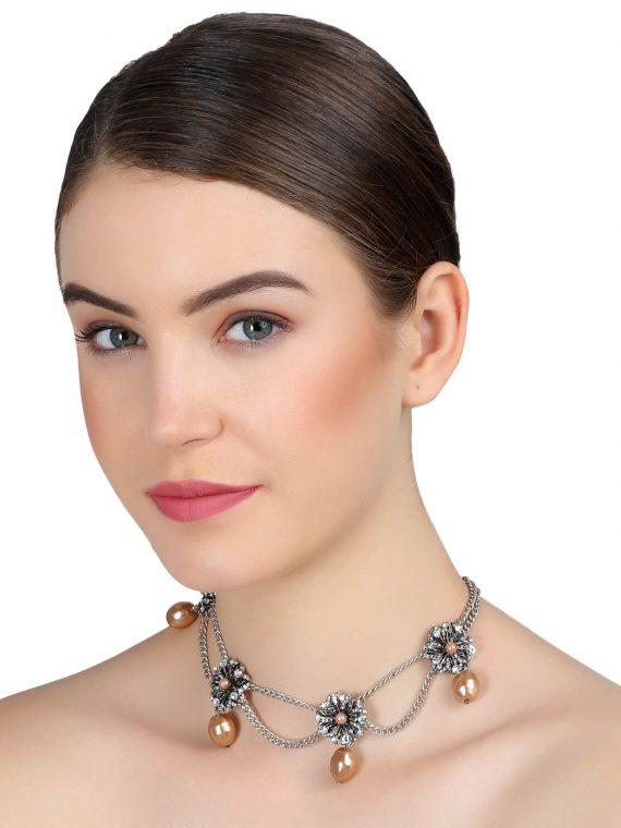 Flower Star Necklace For Girls by femnmas