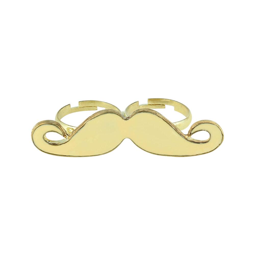 Cream moustache ring By femnmas