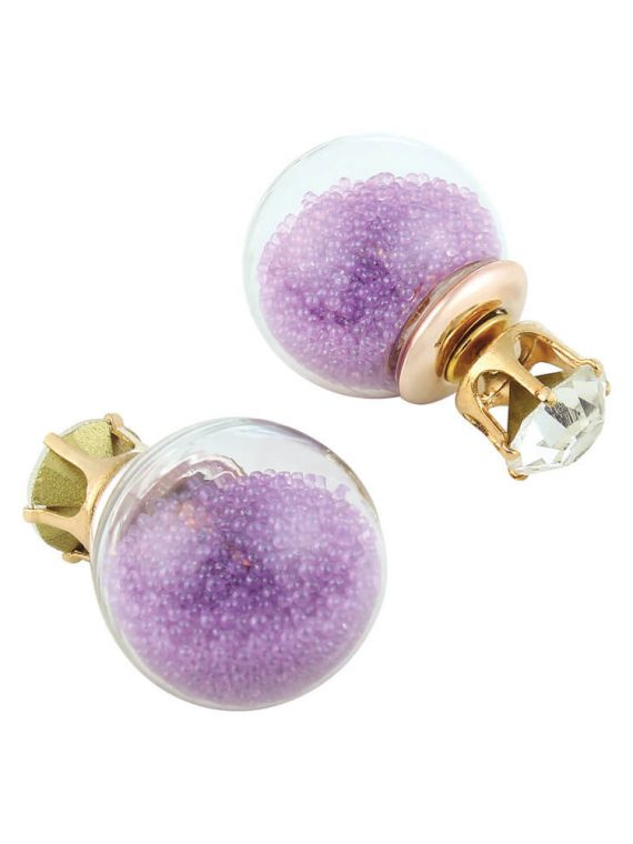 Glass Double Sided Earrings