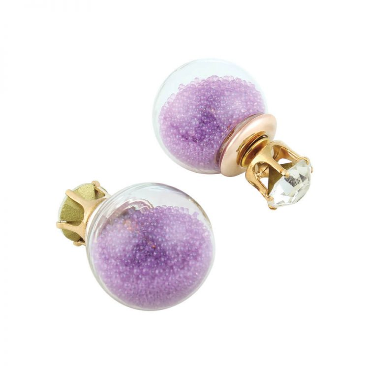 Glass Double Sided Earrings