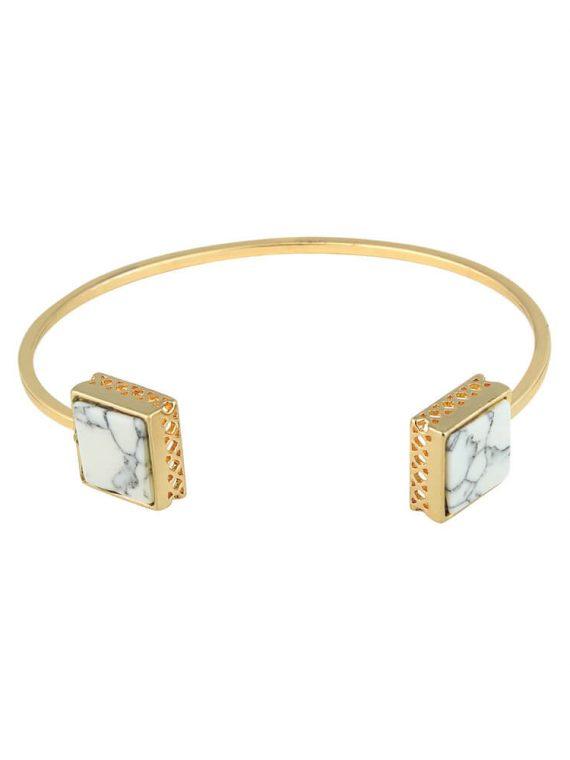Golden Marble Bracelet Cuff