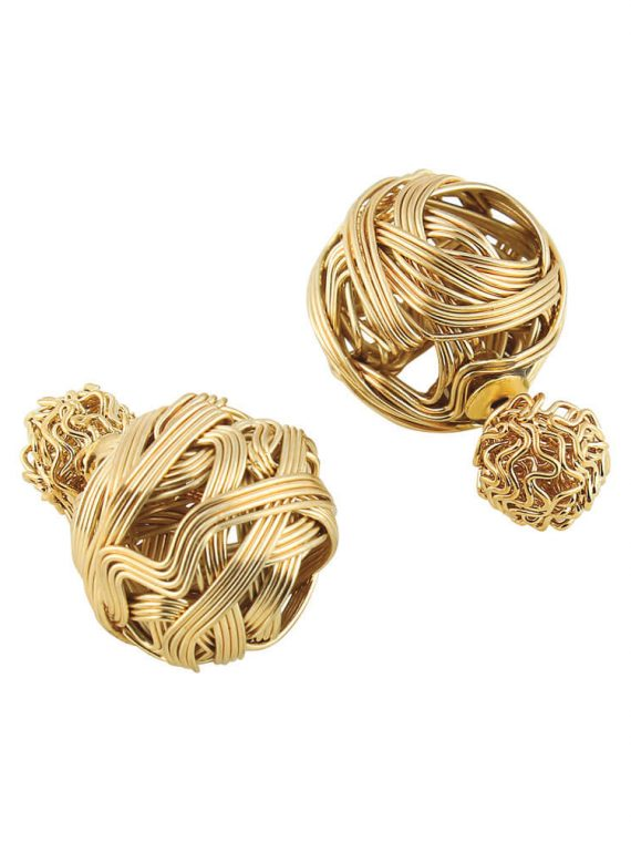 Golden Wire Earrings