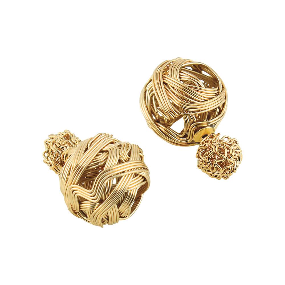 ed297a281 Golden Wire Double Sided Earrings