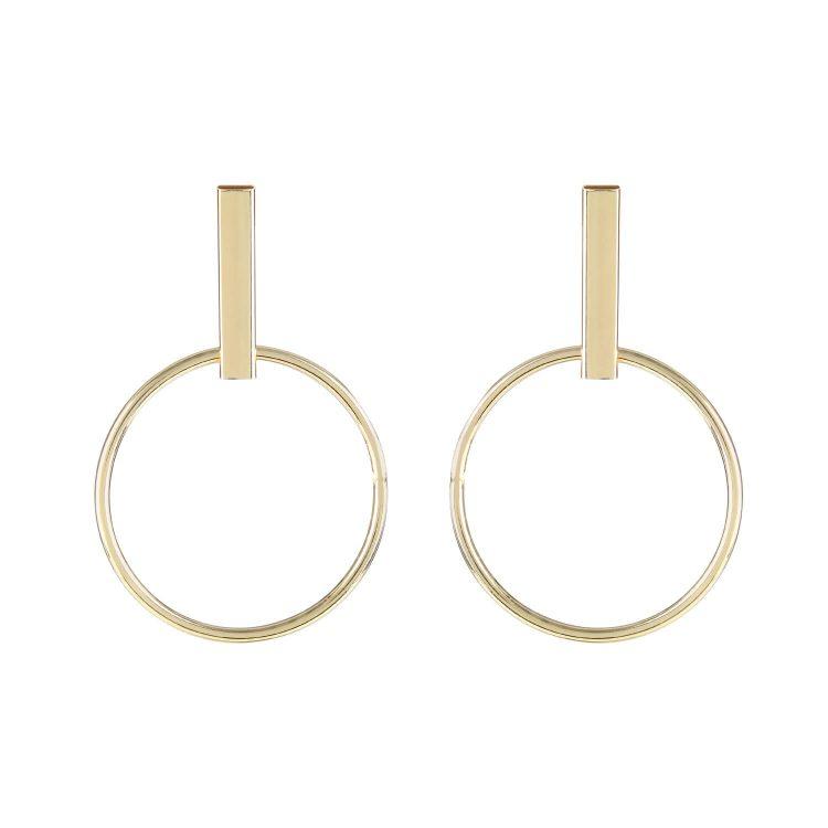 Golden metal hoop earrings By femnmas