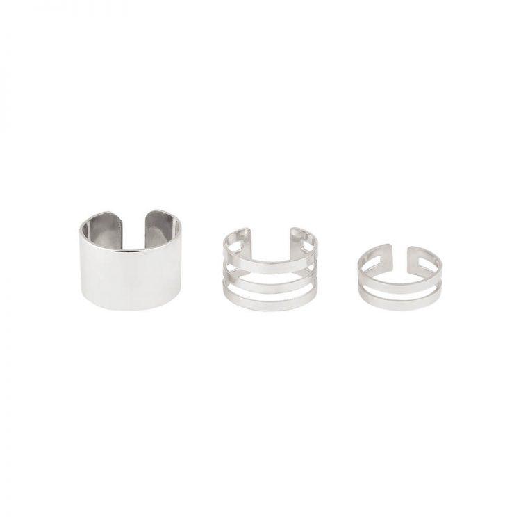 Silver 3 Ring Set
