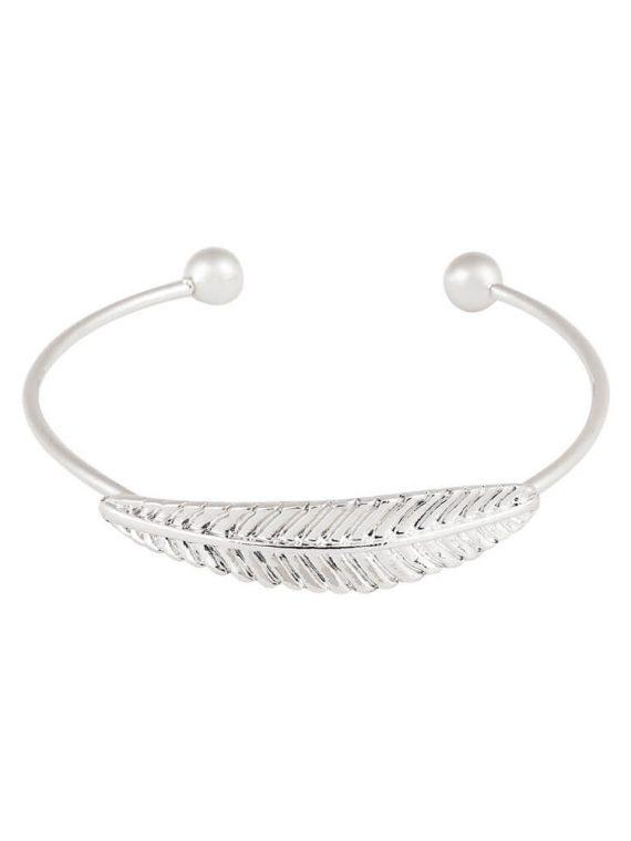 Silver Leaf Bracelet-6