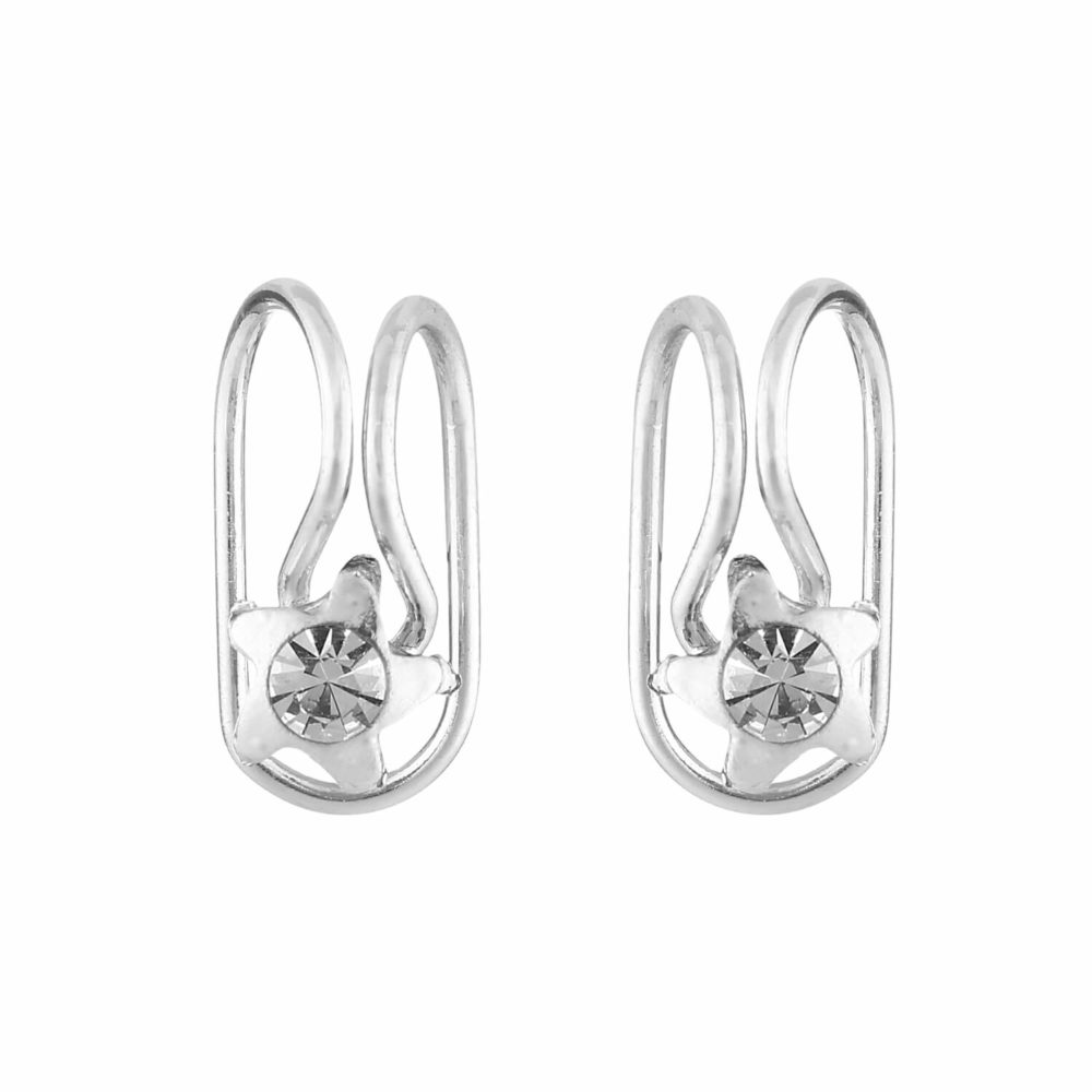 Silver Stone Studded Earclip by femnmas