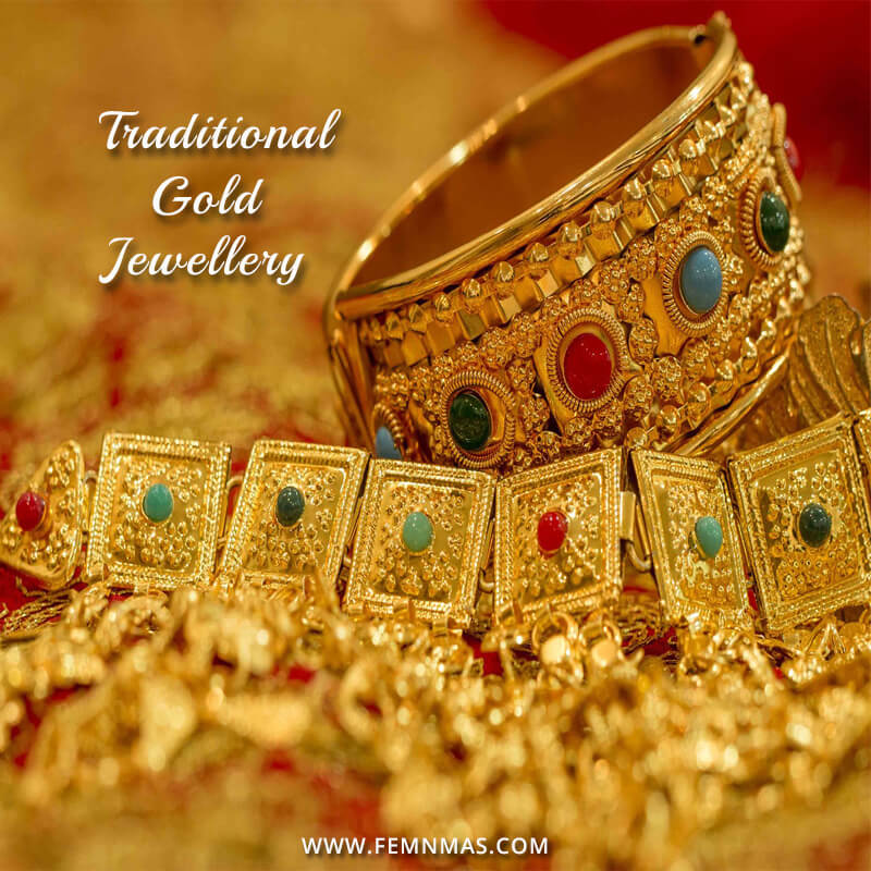 Latest Fashion Traditional Gold Jewellery- The Handmade Crafts